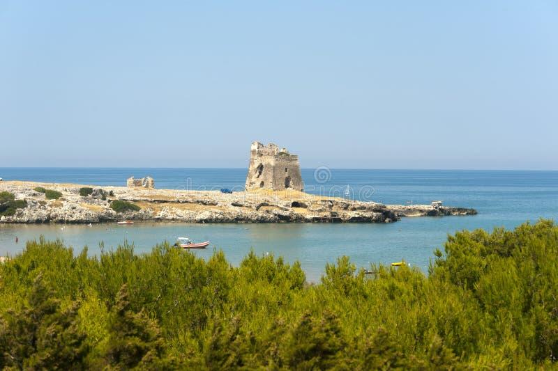 The coast of Gargano (Apulia, Italy) at summer royalty free stock image