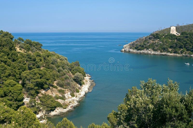 The coast of Gargano (Apulia, Italy) at summer stock images