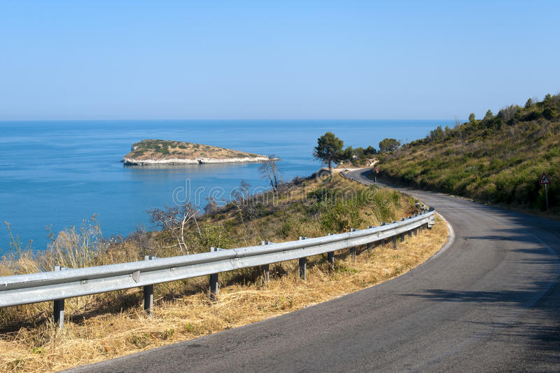 The coast of Gargano (Apulia, Italy) at summer royalty free stock photography