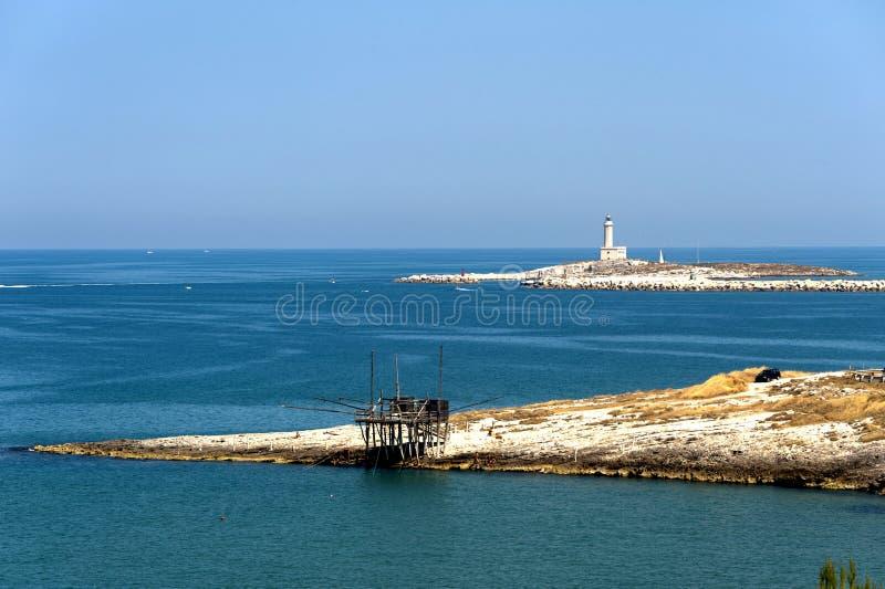 The coast of Gargano (Apulia) with lighthouse royalty free stock photography