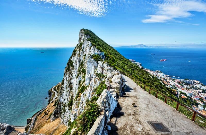 Coast of Gibraltar stock photo