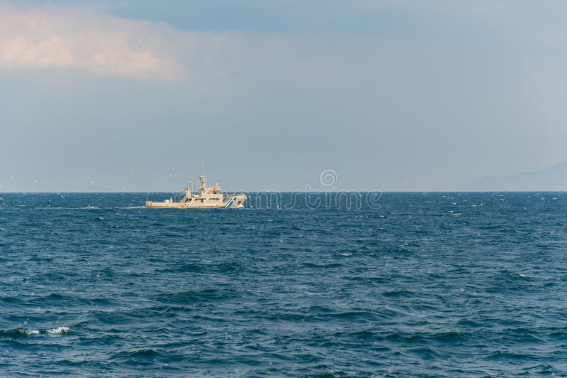 Download Coast Guard Ship stock photo. Image of water, boat, seagulls - 34254782