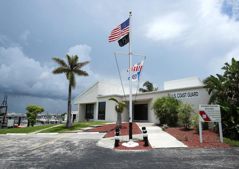Coast Guard Station Fort Lauderdale Administration Building stock photography