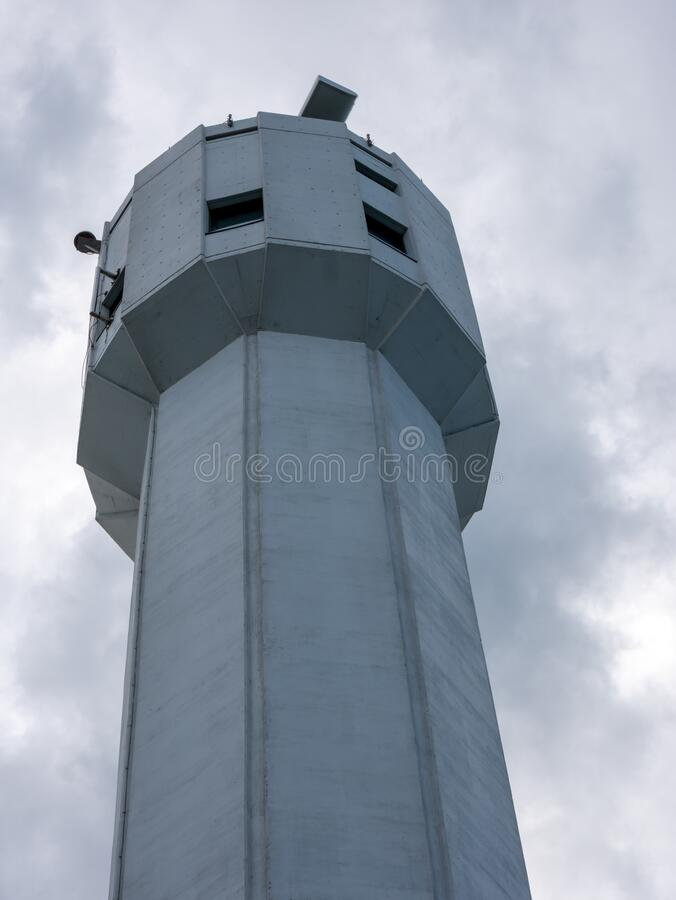 Coast guard Tower in Montreal, Quebec, Canada stock images