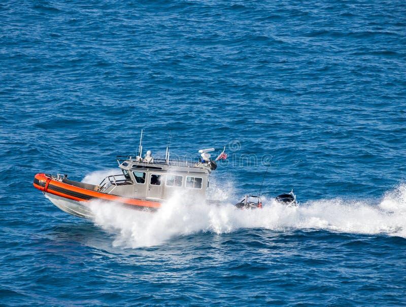 Coast guard. US Coast Guard on duty stock photos