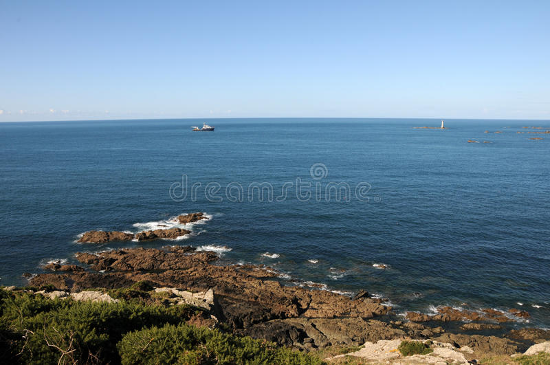 Coast Of Guernsey At Torteval Royalty Free Stock Photos