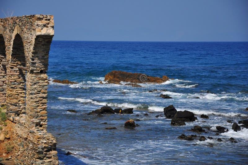 Coast of Halkidiki - Agios Oros. Beautiful part of heaven. Agios Oros - Halkidiki Greece royalty free stock photo