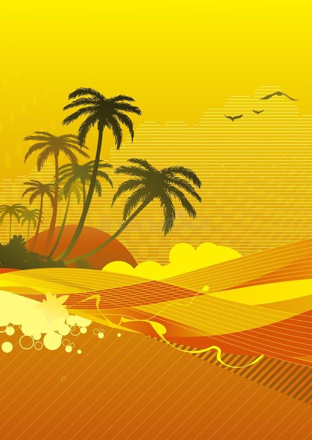 coast hav vektor illustrationer