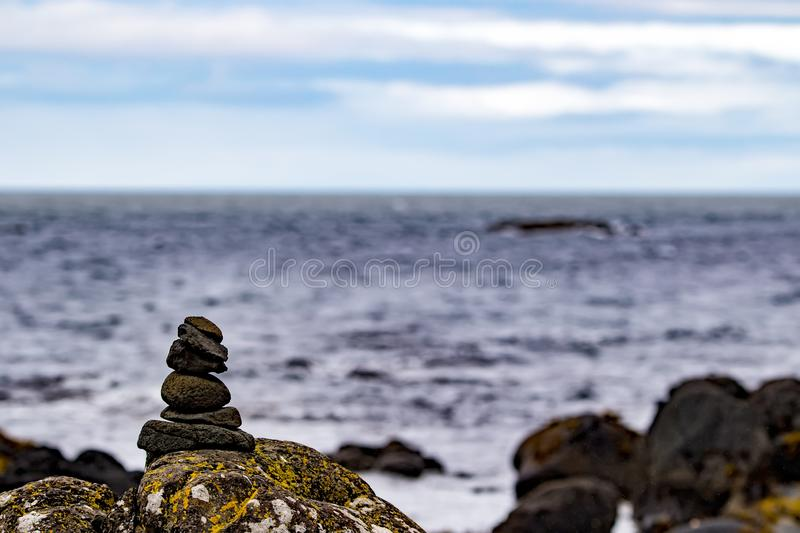 The coast of Ireland and the ocean royalty free stock images