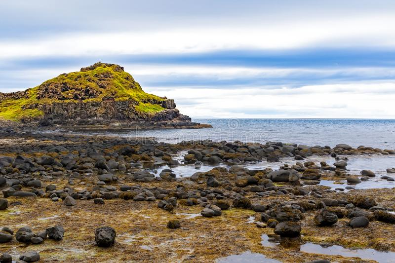 The coast of an island in Ireland royalty free stock image