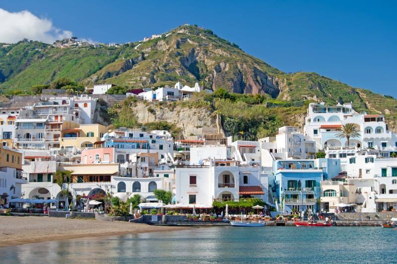 Coast of island of Ischia, italy royalty free stock photo