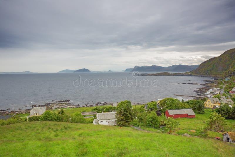 The coast and islets around Goksoyr. On the isle of Runde royalty free stock images