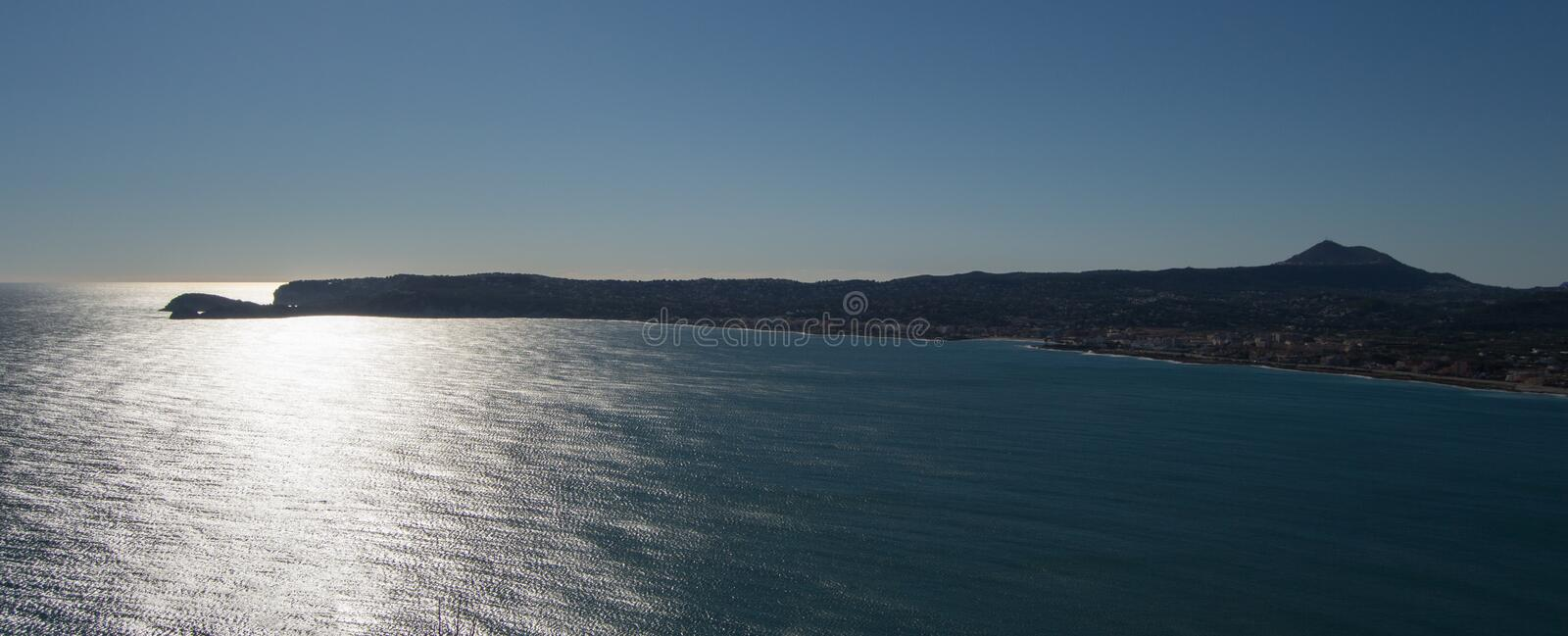 The coast in Javea, Costa blanca, Alicante royalty free stock photography