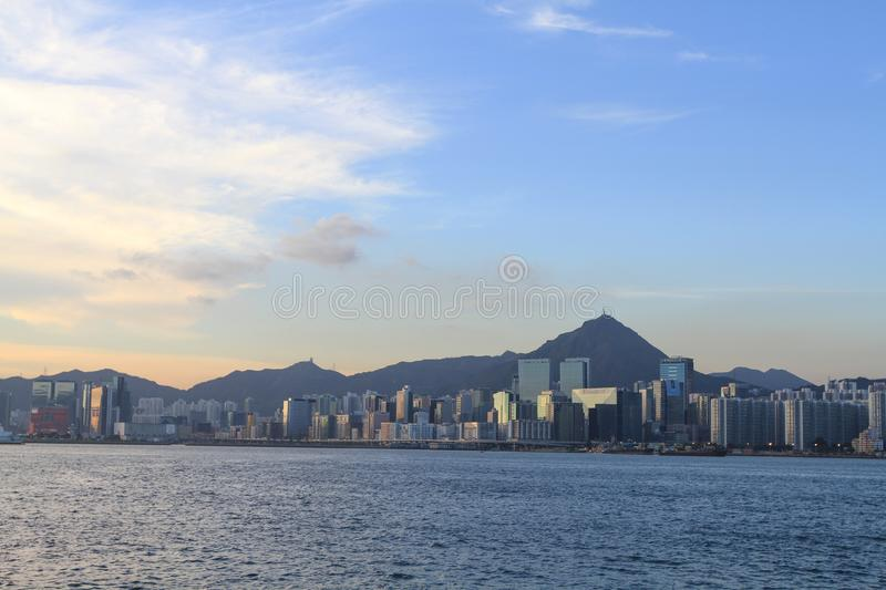 a coast of kowloon side from hong kong royalty free stock photography