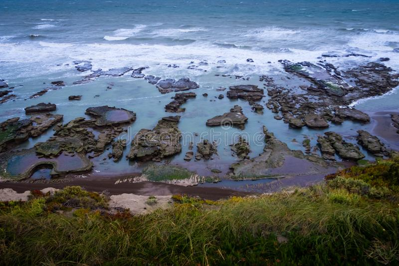 Coast in La Loberia in Argentina. royalty free stock photos