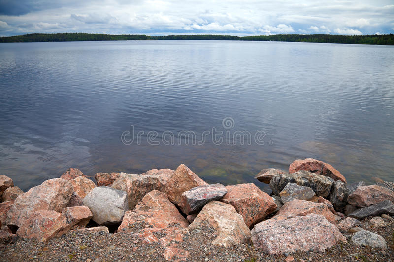 Download Coast Of Lake With Granite Stones Stock Photo - Image of journey, outdoor: 25439728