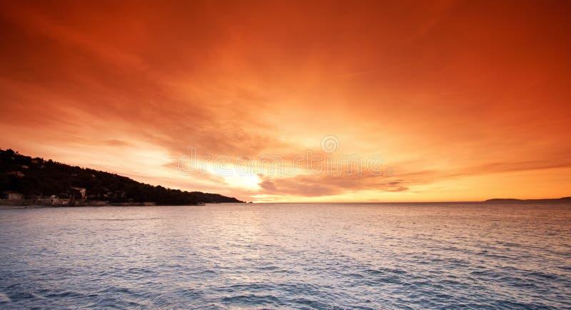 Coast of Lavandou royalty free stock images
