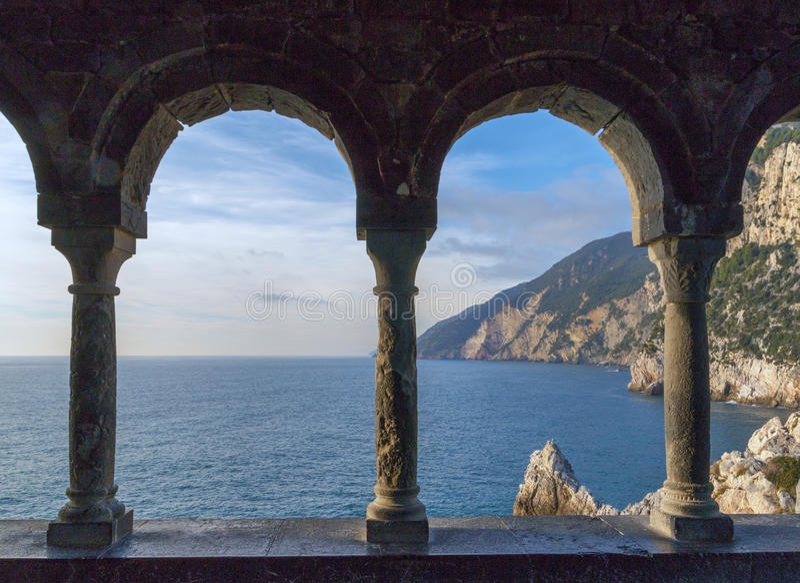 Coast in Liguria royalty free stock image