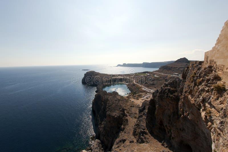 Download Coast of Lindos, Greece stock photo. Image of coast, coastal - 27416654