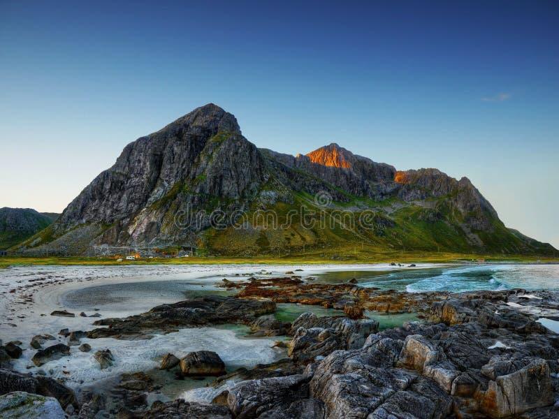 Coast Lofoten Islands, Norway stock images