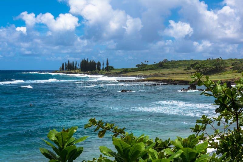 The coast of Maui, Hawaii. The coast of Maui fron the road to Hana, Hawaii stock image