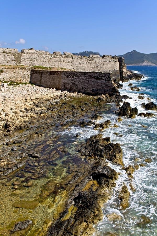 Coast Of Methoni At Greece Stock Photography