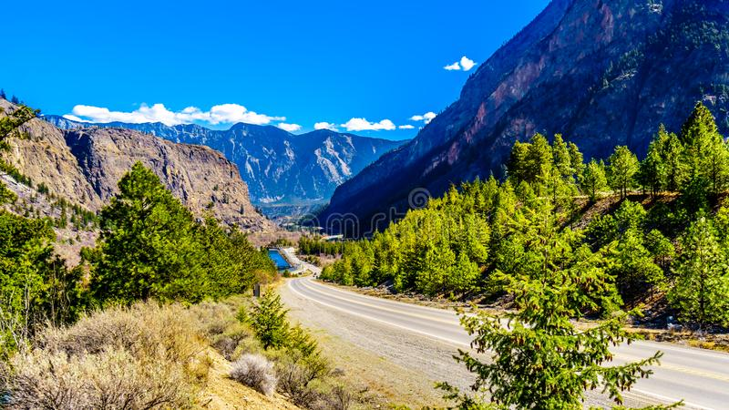 The Coast Mountain Range at the Duffey Lake Road in British Columbia, Canada royalty free stock images