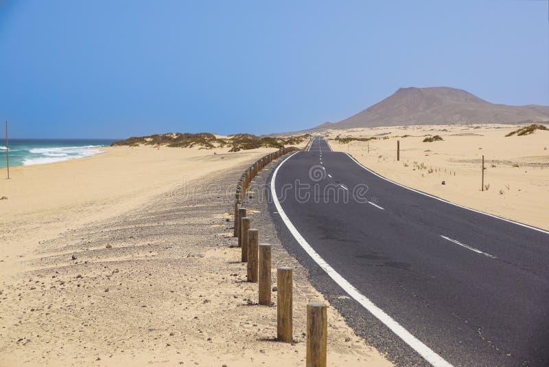 Coast near Corralejo, Canary Island Fuerteventura stock photo