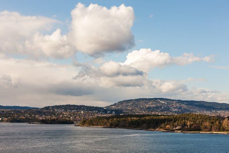 Coast near Oslo stock photography