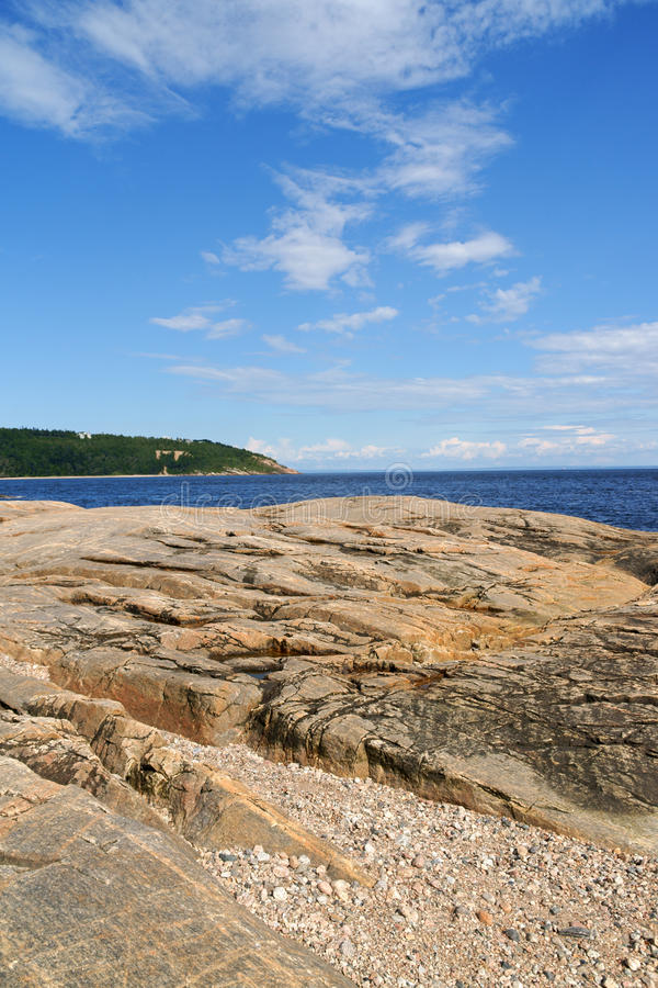 The coast near Tadoussac, Canada royalty free stock photos