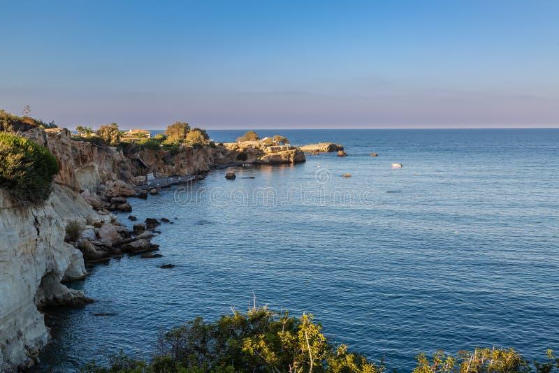 Coast near the town Sarantaris, Crete, Greece stock images