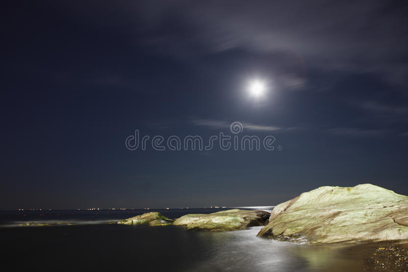 Download Coast night scenes stock image. Image of light, background - 20999083