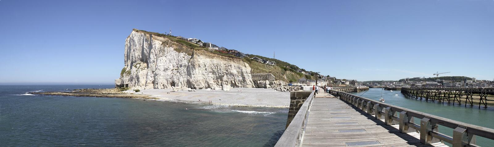 Download Coast of Normandy stock photo. Image of coast, rock, boat - 25420724