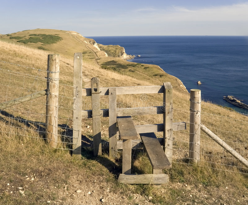 Coast path england stock photography