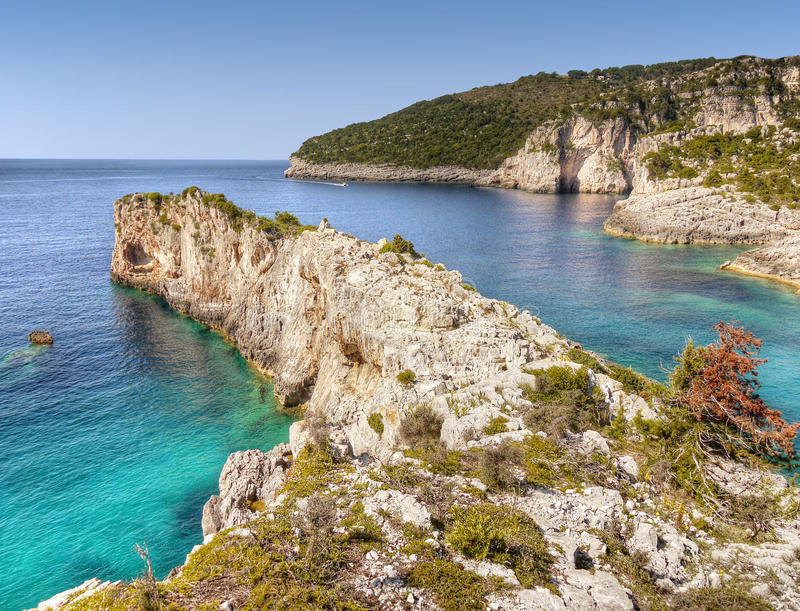 Coast - Paxos Island, Travel Greece royalty free stock photography