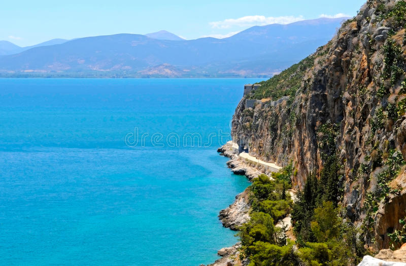 The coast of Peloponnese. Greece stock photography