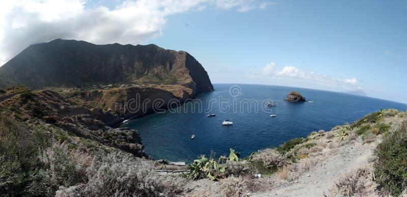 Coast of Pollara royalty free stock photos