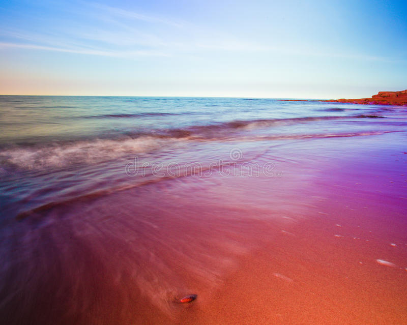 Coast of prince edward island stock photo