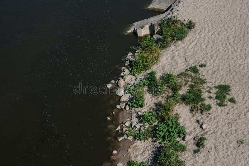 Coast and river and green plants stock photos