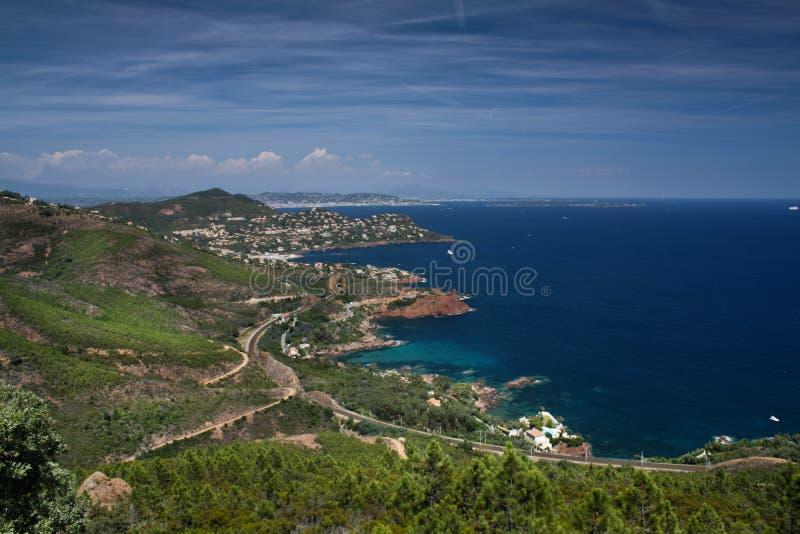 Coast of Saint-Raphaël, French Riviera royalty free stock photo