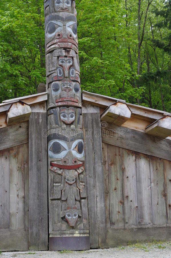 Coast Salish long house royalty free stock images