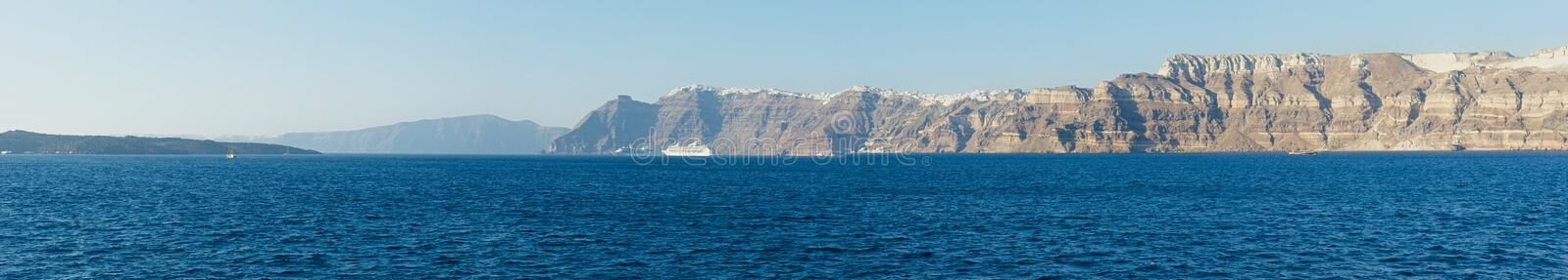 The coast of Santorini. royalty free stock image