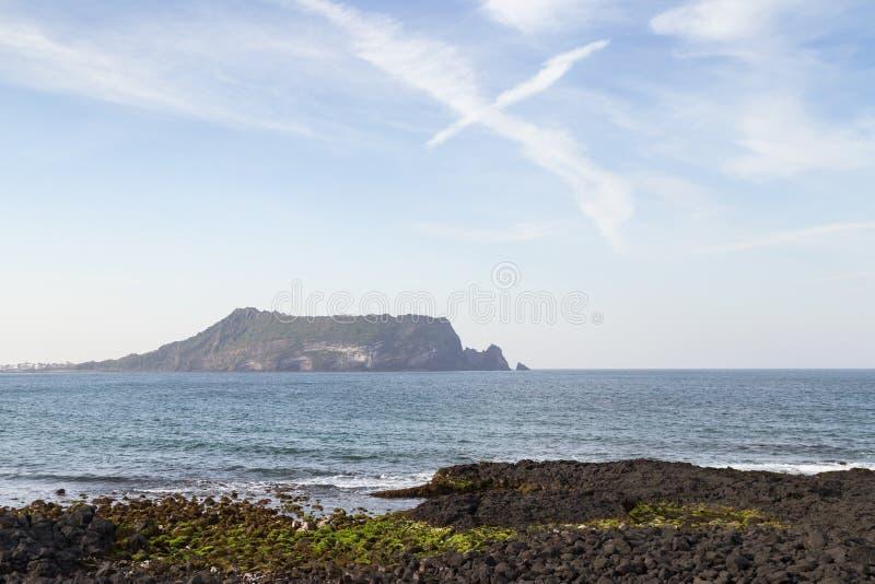 Coast at Seopjikoji on Jeju Island royalty free stock images
