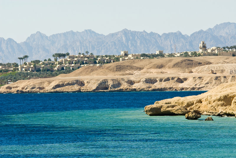 Coast of sharm el sheikh royalty free stock photography