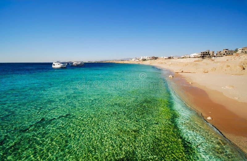 The coast of sharm el sheikh stock photo