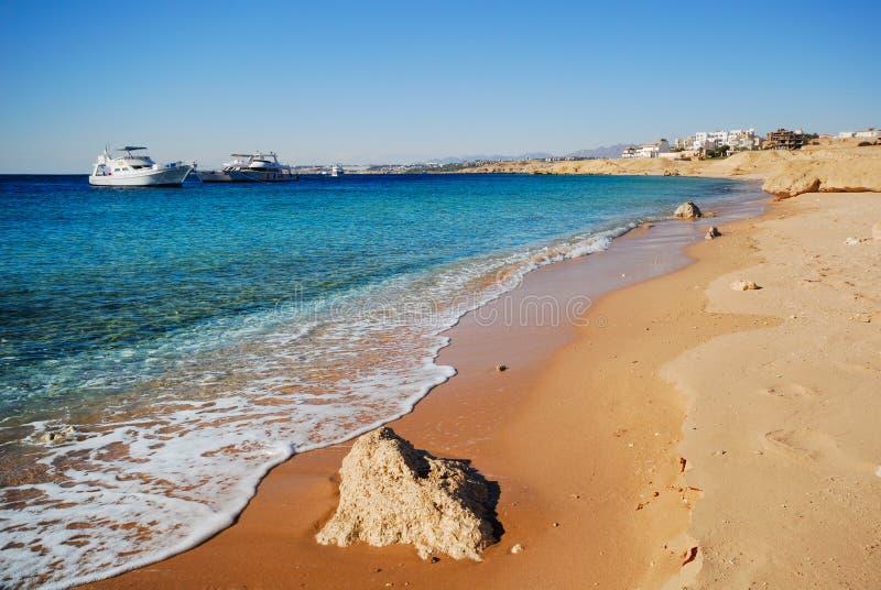 The coast of sharm el sheikh stock photography