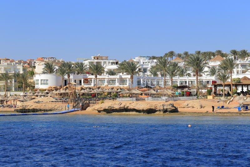 Coast Sharm El Sheikh. View from the sea royalty free stock photos