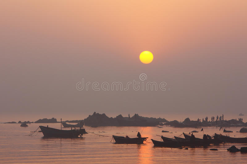 Download Coast sunrise stock photo. Image of fishing, nature, sunrise - 23931842