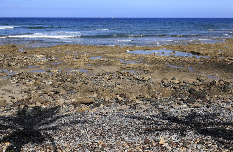 Coast of Tenerife, Palya de las Americas royalty free stock photography