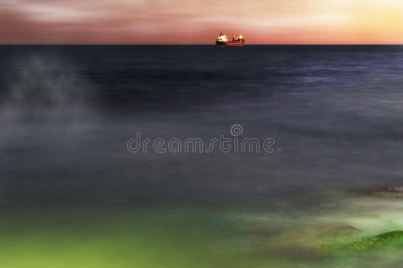 From the coast of Torrevieja royalty free stock images